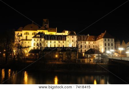 Town Fuessen At Night, Germany