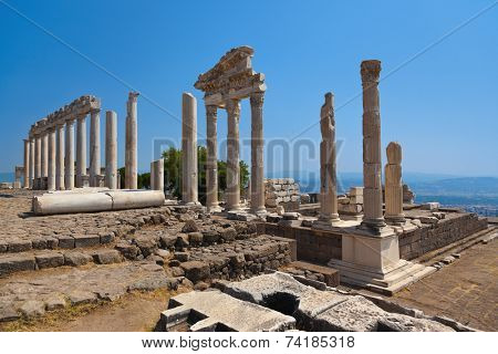 Temple of Trajan at Acropolis of Pergamon - Turkey