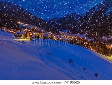 Mountains ski resort Solden Austria - nature and architecture background