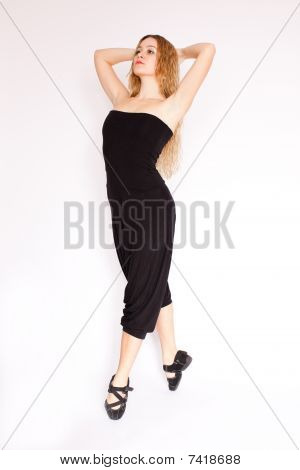 Young Woman Doing Ballet
