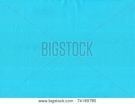Sky-blue Silk Fabric As Background