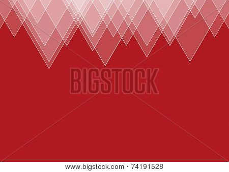 Abstract red geometric triangular background with place for copy. EPS10 file with transparency