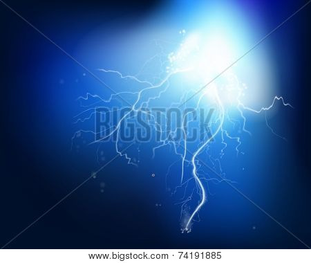 Electrical explosion. Vector illustration.