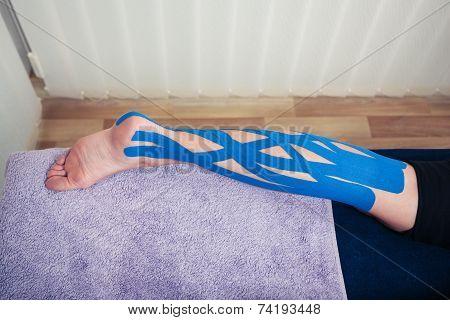 Leg With Kinesio Tape