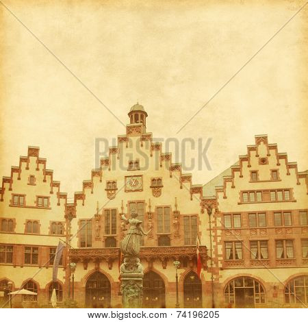 Image of old traditional buildings in Frankfurt.