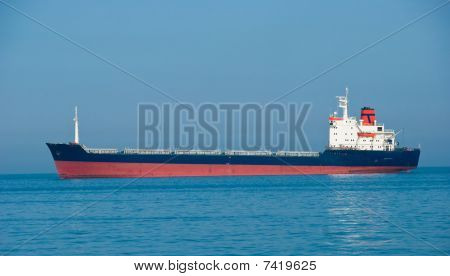 The Industrial Vessel - The Dry-cargo Ship Goes To Port