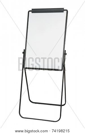 flip chart isolated on white background