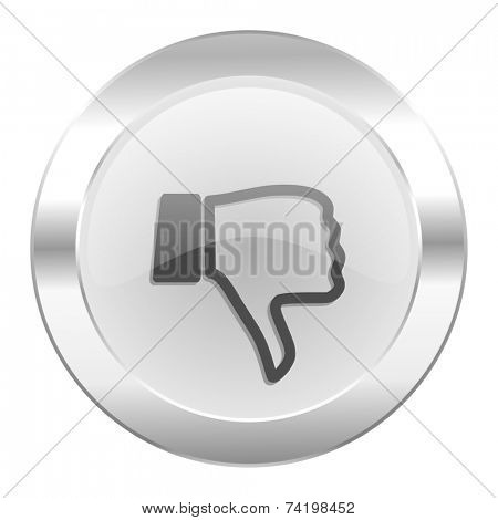 dislike chrome web icon isolated