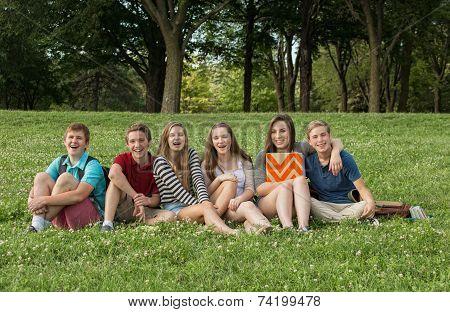 Cheerful Teen Students