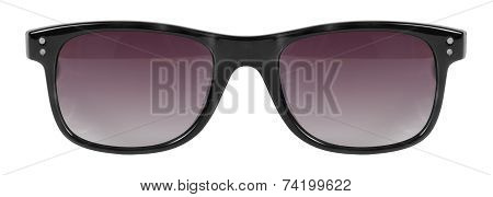 Sunglasses Black Frame And Red Color Lens Isolated Against A Clean White Background Nobody