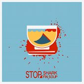 picture of fin  - No shark finning soup - JPG