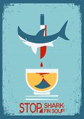 stock photo of fin  - No shark fin soup - JPG