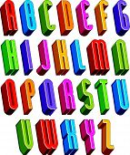 picture of verbs  - 3d font - JPG