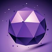 pic of spatial  - Purple 3D modern stylish abstract background - JPG