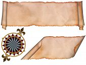 pic of wind-rose  - Medieval parchment and symbol of wind rose - JPG