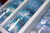 stock photo of garter  - Blue garter for the bride in box - JPG