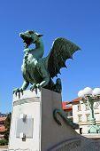 image of dragon  - Bronze Dragon statue - JPG