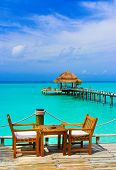 image of kuramathi  - Cafe on the beach - JPG