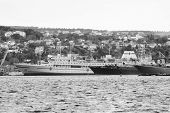 image of sevastopol  - Warships in the bay of Sevastopol - JPG