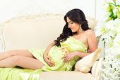 image of fondling  - Beautiful motherhood - JPG