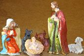image of manger  - Baby Jesus in the Manger of the crib at Christmas - JPG