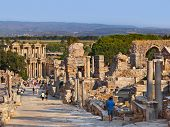 pic of stone sculpture  - Ancient ruins in Ephesus Turkey  - JPG