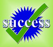 picture of confirmation  - Success Tick Indicating Prevail Correct And Confirmed - JPG