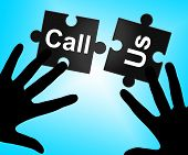 pic of debate  - Call Us Showing Chatting Phone And Debate - JPG