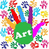 picture of youngster  - Art Handprint Representing Kids Youngsters And Spectrum - JPG