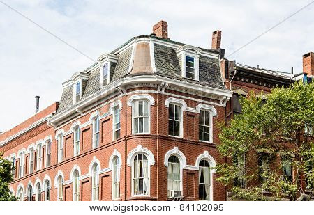 Classic Two Story Brick Building