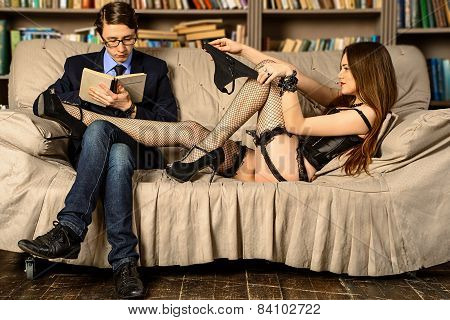 Heavy Reading With Sexy Girl