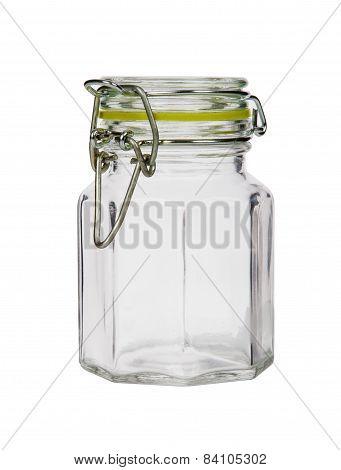 Glass Jar Isolated On White Background