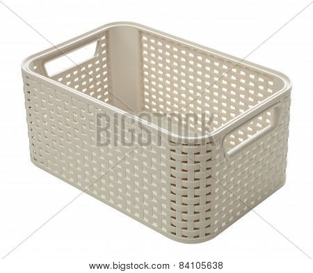 Empty Plastic Box Isolated On White Background
