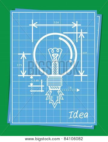 Blueprint of rocket idea