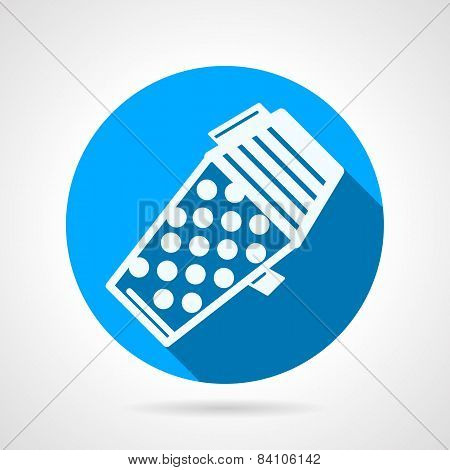 Blue flat vector icon for paintball hopper