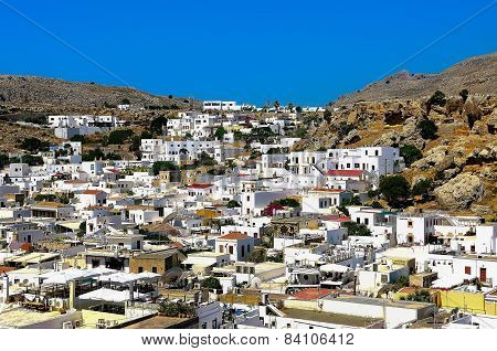 View the town of Lindos