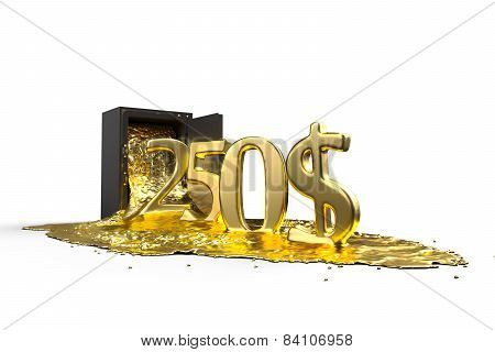 Safe And Liquid Gold. Gold Rises 250 Dollars. Path Included.