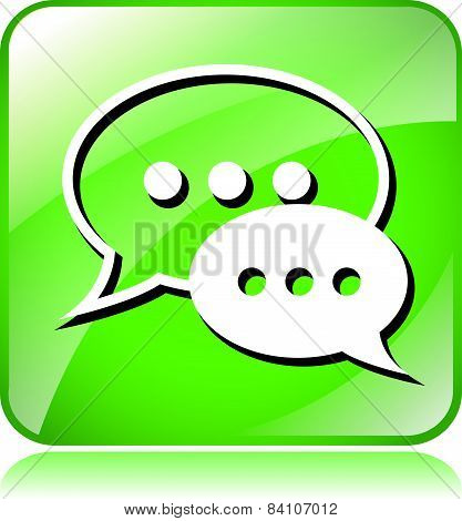 Green Live Chat Icon