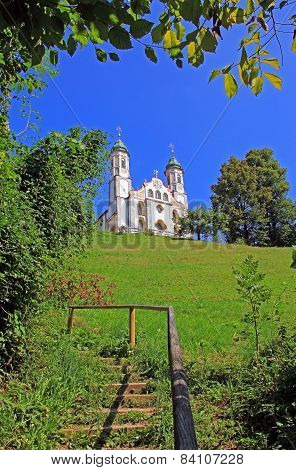 Bavarian Monastery On Calvary Hill, Bad Tolz, Bavaria