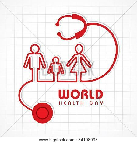 Creative World Health Day Greeting stock vector