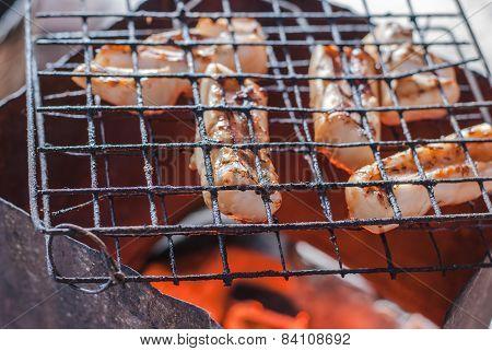 Fresh Squid Barbeque