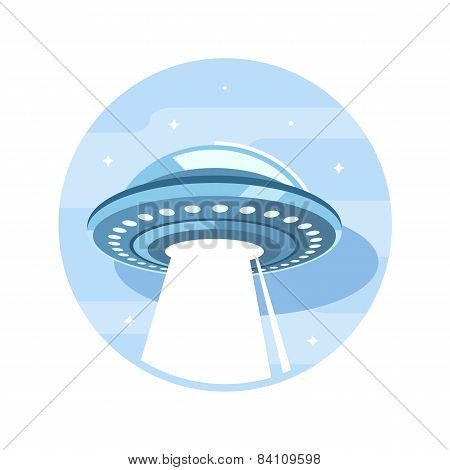 Flying Ufo Flat Icon