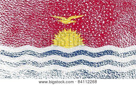 Flag Of Kiribati With Old Texture. Vector