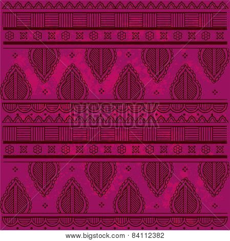 Pink Indian henna background