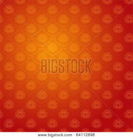 Floral Chinese Lotus Pattern