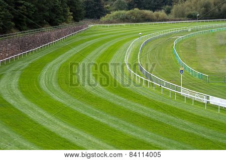 Bend on a Horse Racetrack