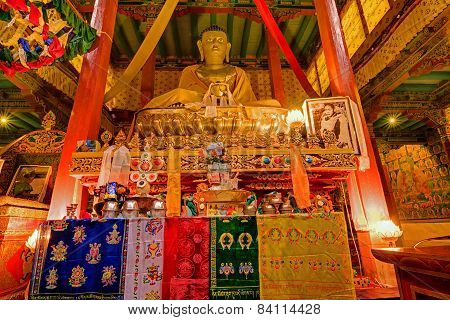 Buddha Statue , Hemis Monsatery, Leh, Ladakh, Jammu And Kashmir, India