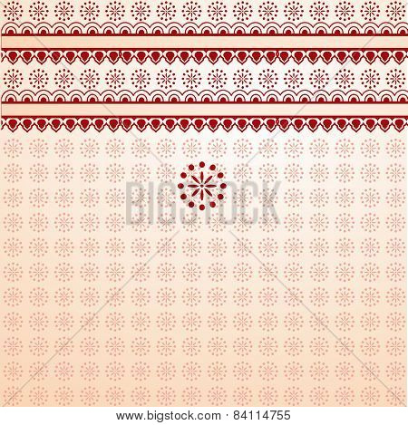 Red and cream henna background