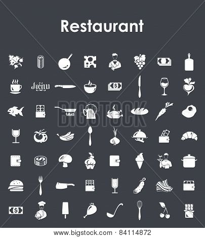 Set of restaurant simple icons
