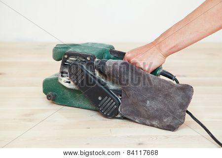 Polishing the wood